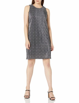 Ronni Nicole Women's Sleevless Bodre Chevron Stripe Shift