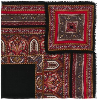 Yves Saint Laurent Pre Owned Paisley Pattern Scarf