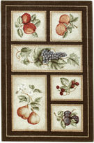 JCPenney Brumlow Fresh Fruit Washable Rectangular Accent Rug