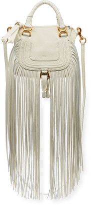 Chloé Marcie Mini Fringe Double-Carry Satchel Bag