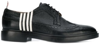 Thom Browne 4-Bar Applique Pebble Leather Brogues