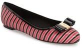 Salvatore Ferragamo Women's 'Varina' Zigzag Leather Flat
