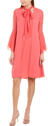 Teri Jon By Rickie Freeman Silk Shift Dress