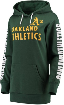 G Iii Women's G-III 4Her by Carl Banks Green Oakland Athletics Extra Innings Pullover Hoodie