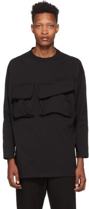 N.Hoolywood Black Double Chest Pocket Sweater