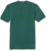 Dolce & Gabbana - Slim-fit Cotton-jersey Henley T-shirt