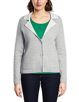 Street One Women's 252791 Suit Jacket, Grey (Moon Grey Melange 123), UK