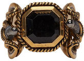 Alexander McQueen Gold Snake and Dagger Ring