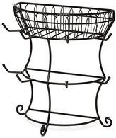 Mikasa Gourmet Basics French Countryside Flatback Mug Tree with Basket