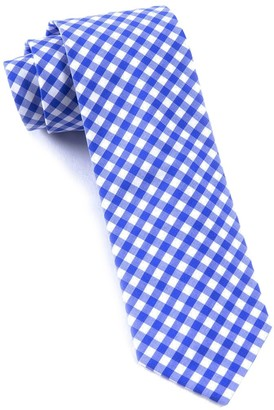 Tie Bar New Gingham Royal Blue Tie