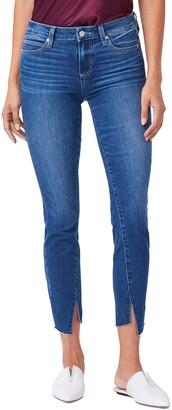 Paige Verdugo Mid Rise Twist Inseam Ankle Skinny Jeans