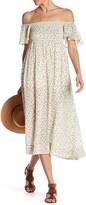 Anama Smock Bodice Floral Dress