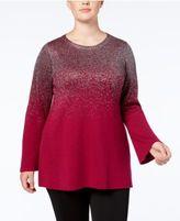 Alfani Plus Size Metallic Tunic Sweater, Created for Macy's