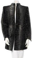 CNC Costume National Lamb Fur Coat