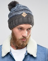 The North Face Antlers Bobble Beanie In Grey