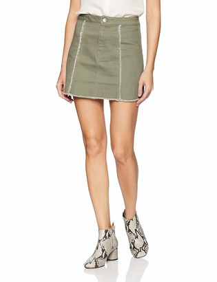 BCBGeneration Women's Denim Fray Edge Skirt