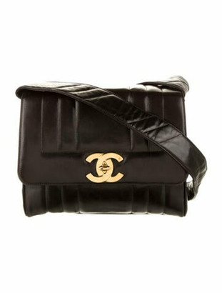 Chanel Vintage Vertical Quilt Flap Bag Black