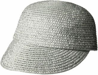 Eric Javits Women's Mondo Cap-Small/Medium-Silver