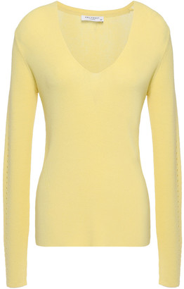 Equipment Myrian Pointelle-trimmed Knitted Sweater