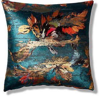One Kings Lane Isla 19x19 Pillow - Teal