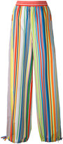 Ports 1961 striped palazzo trousers - women - Cotton - 42