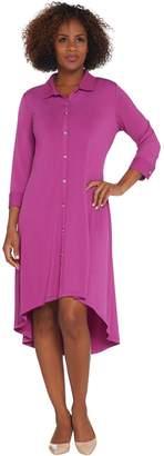 Halston H by Regular Jet Set Jersey 3/4 Sleeve Shirt Dress