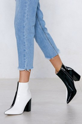 Nasty Gal Womens Double Take Two-Tone Boot - Black - 3