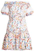 Peter Pilotto Abstract-print off-the-shoulder cotton-blend dress