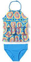 Classic Little Girls Tiered Tankini Swimsuit Set-Pineapple Stripe