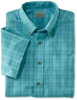 L.L. Bean L.L.Bean Wrinkle-Free Twill Sport Shirt, Traditional Fit Short-Sleeve Windowpane