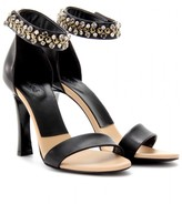 Chloé LEATHER PUMPS WITH CRYSTAL BEAD EMBELLISHED STRAP
