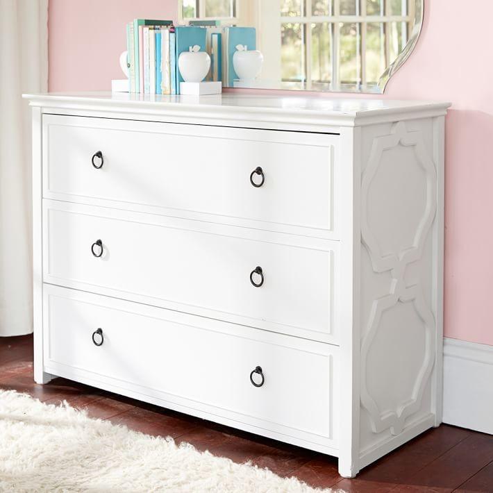 Pottery Barn Teen Elsie 3-Drawer Wide Dresser