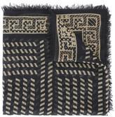 Versace diagonal stripe pattern shawl