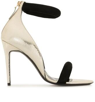 Pierre Hardy Strappy Metallic Heeled Sandals