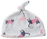 Joules Baby Girls Newborn-9 Months Cat-Print Beanie Hat