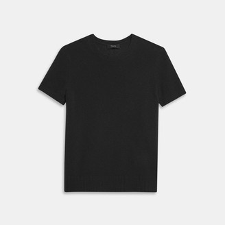 Theory Basic Sweater Tee in Feather Cashmere