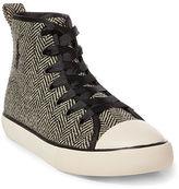 Ralph Lauren Herringbone High-Top Sneaker