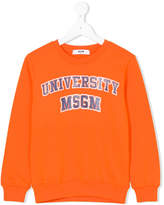 MSGM university logo sweatshirt