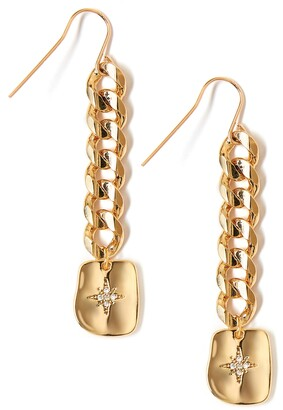 Tess + Tricia Textured Star Drop Earrings