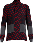 RED Valentino Polka-dot print silk-crepe blouse