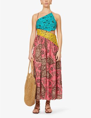 Zimmermann Lulu asymmetric cotton-poplin maxi dress