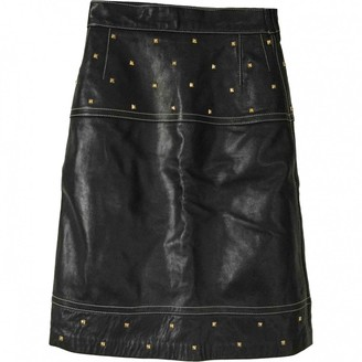 Escada Black Leather Skirt for Women