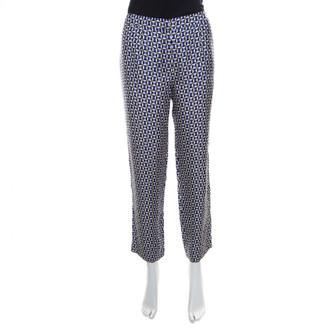 Christian Dior Blue Silk Trousers