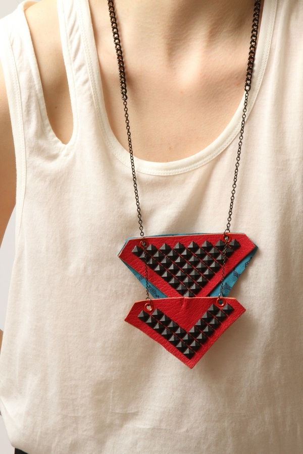 Junkprints Tri-Lateral Necklace