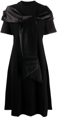 Simone Rocha Satin Shawl Detail Dress