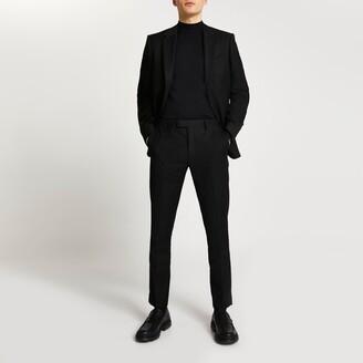 River Island Mens Black skinny fit suit trousers