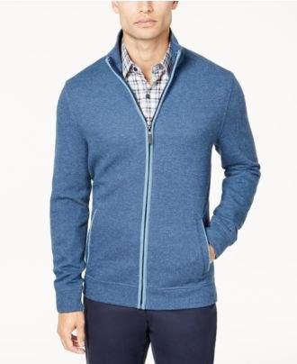 Tasso Elba Men's Herringbone Full-Zip Knit Sweater, Created for Macy's