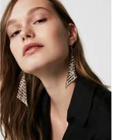 Express stone metal mesh drop earrings