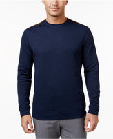Tasso Elba Men's Big and Tall Faux Suede Shoulder Patch Sweater, Only at Macy's