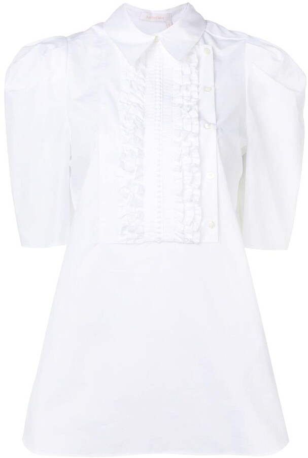 See by Chloe short-sleeve ruffled blouse